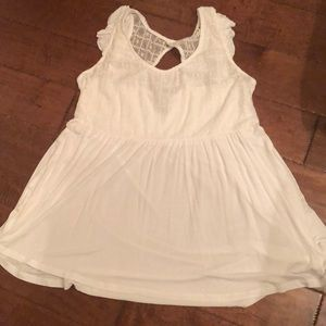 White baby doll tank.
